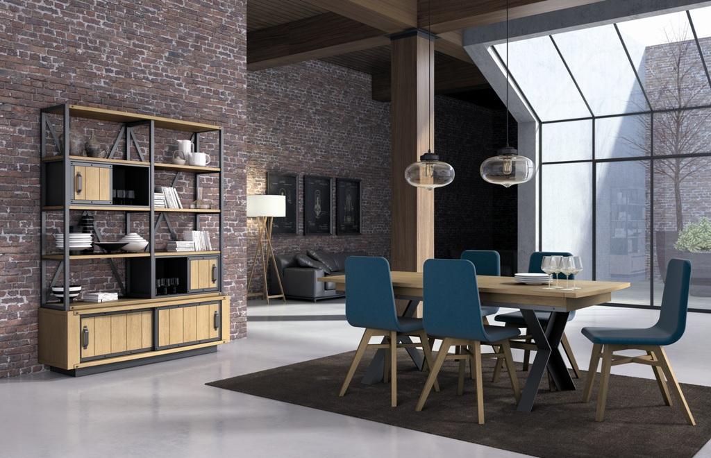 Corti muestra sus mejores colecciones en madera maciza - Salon estilo industrial ...
